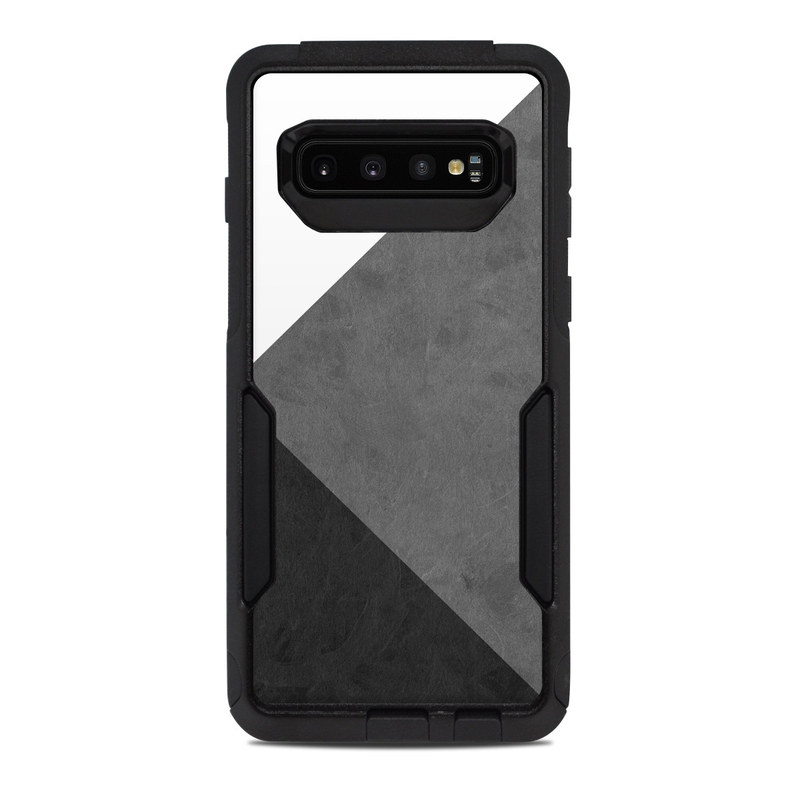 OtterBox Commuter Galaxy S10 Case Skin design of Black, White, Black-and-white, Line, Grey, Architecture, Monochrome, Triangle, Monochrome photography, Pattern with white, black, gray colors