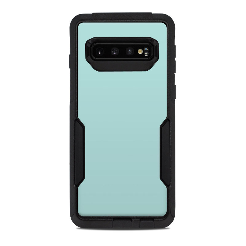 OtterBox Commuter Galaxy S10 Case Skin design of Green, Blue, Aqua, Turquoise, Teal, Azure, Text, Daytime, Yellow, Sky with blue colors