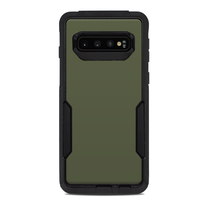 OtterBox Commuter Galaxy S10 Case Skin design of Green, Brown, Text, Yellow, Grass, Font, Pattern, Beige with green colors