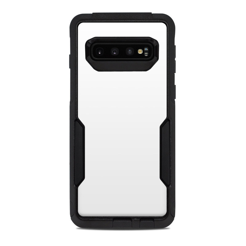 OtterBox Commuter Galaxy S10 Case Skin design of White, Black, Line with white colors