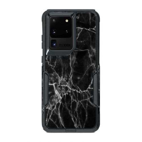 Black Marble OtterBox Commuter Galaxy S20 Ultra Case Skin