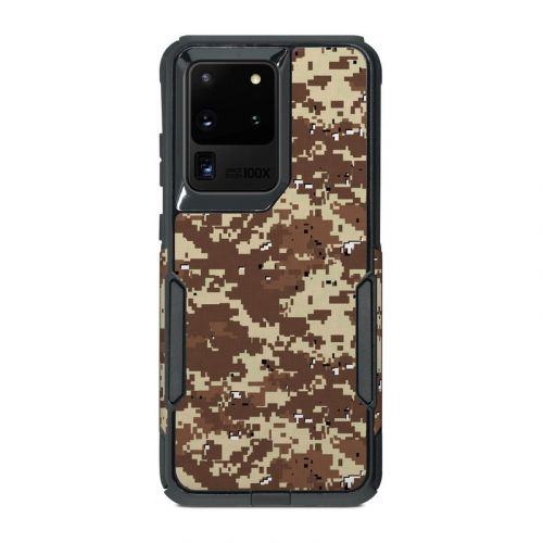 Digital Desert Camo OtterBox Commuter Galaxy S20 Ultra Case Skin