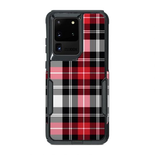 Red Plaid OtterBox Commuter Galaxy S20 Ultra Case Skin