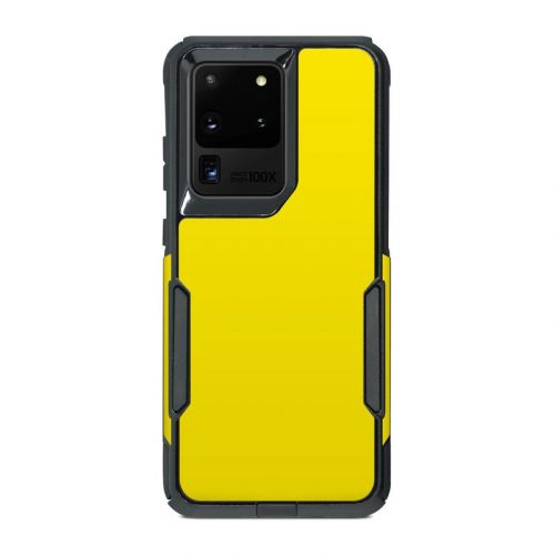 Solid State Yellow OtterBox Commuter Galaxy S20 Ultra Case Skin