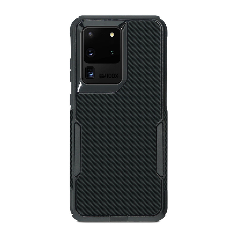 OtterBox Commuter Galaxy S20 Ultra Case Skin design of Green, Black, Blue, Pattern, Turquoise, Carbon, Textile, Metal, Mesh, Woven fabric with black colors