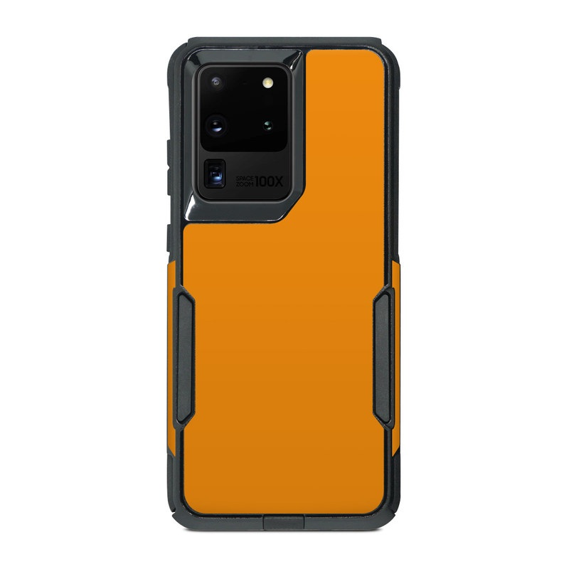 OtterBox Commuter Galaxy S20 Ultra Case Skin design of Orange, Yellow, Brown, Text, Amber, Font, Peach with orange colors