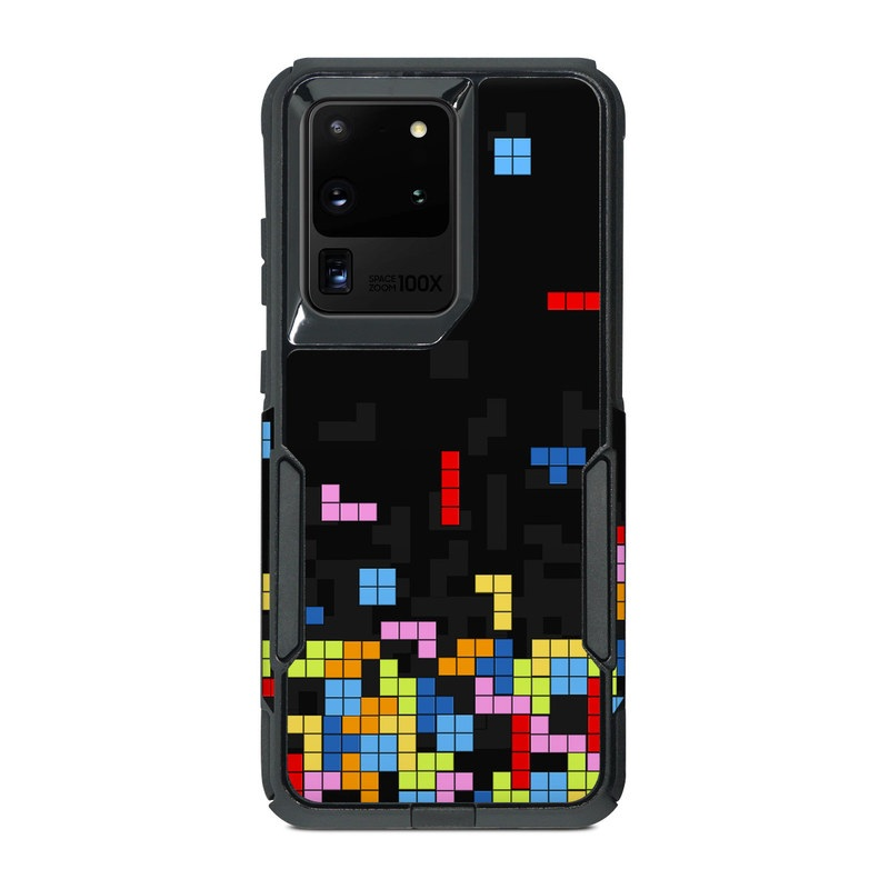 OtterBox Commuter Galaxy S20 Ultra Case Skin design of Pattern, Symmetry, Font, Design, Graphic design, Line, Colorfulness, Magenta, Square, Graphics with black, green, blue, orange, red colors