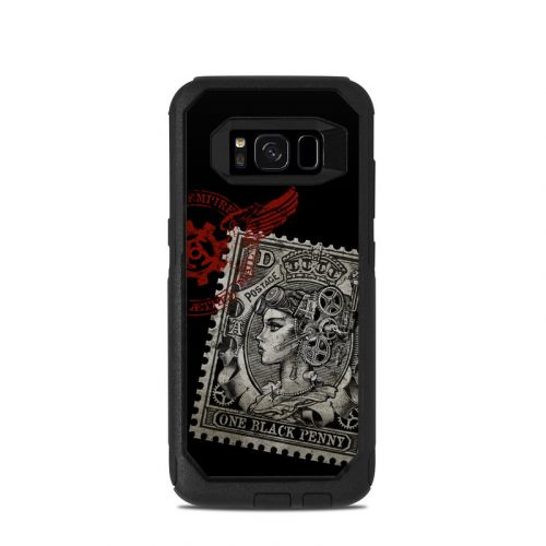 Black Penny OtterBox Commuter Galaxy S8 Skin
