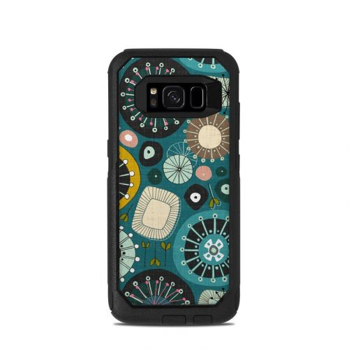 Blooms Teal OtterBox Commuter Galaxy S8 Skin