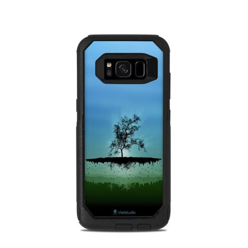 Flying Tree Blue OtterBox Commuter Galaxy S8 Case Skin