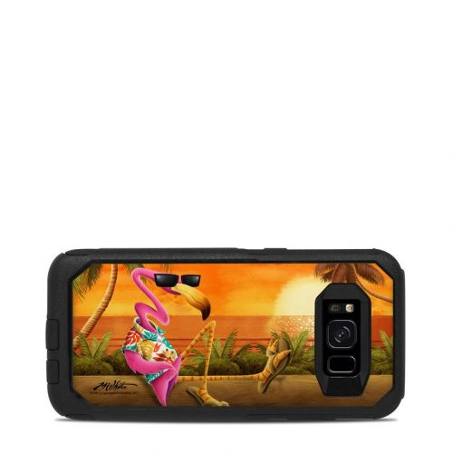 Sunset Flamingo OtterBox Commuter Galaxy S8 Case Skin
