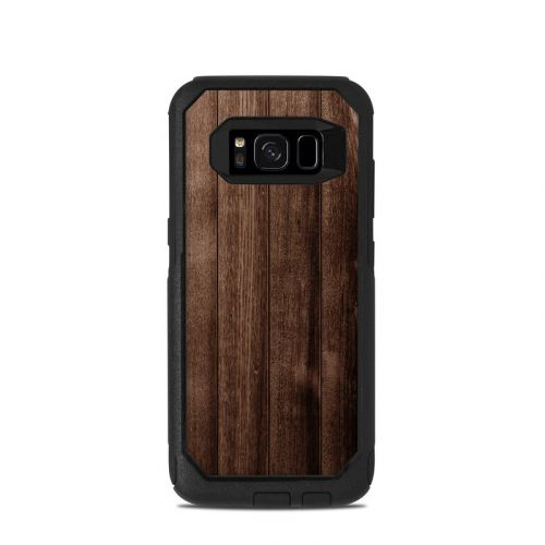 Stained Wood OtterBox Commuter Galaxy S8 Skin