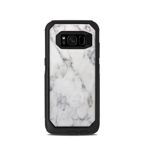 White Marble OtterBox Commuter Galaxy S8 Case Skin