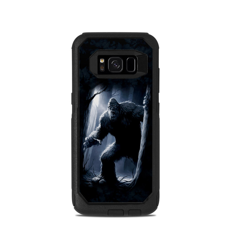 OtterBox Commuter Galaxy S8 Case Skin design of Darkness, Werewolf, Primate, Fictional character, Mythical creature, Cg artwork with black, gray, blue colors