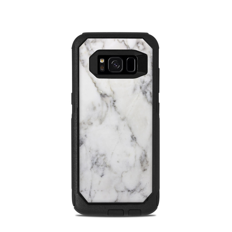OtterBox Commuter Galaxy S8 Case Skin design of White, Geological phenomenon, Marble, Black-and-white, Freezing with white, black, gray colors