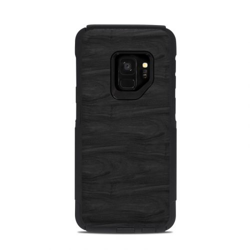 Black Woodgrain OtterBox Commuter Galaxy S9 Case Skin