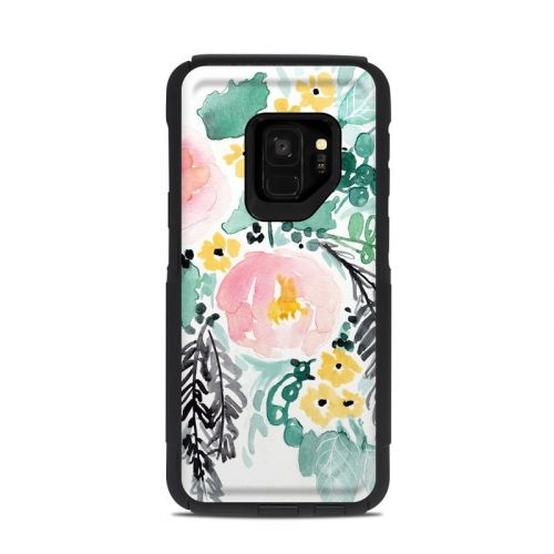 Blushed Flowers OtterBox Commuter Galaxy S9 Case Skin
