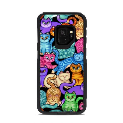 Colorful Kittens OtterBox Commuter Galaxy S9 Case Skin