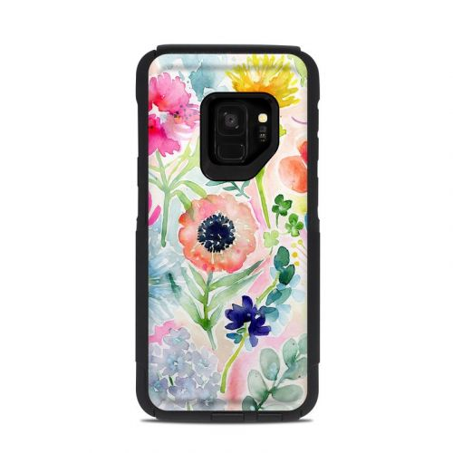 Loose Flowers OtterBox Commuter Galaxy S9 Case Skin