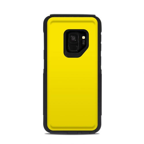 Solid State Yellow OtterBox Commuter Galaxy S9 Case Skin