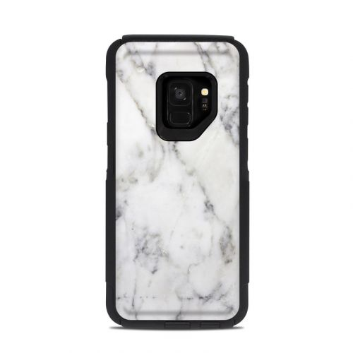 White Marble OtterBox Commuter Galaxy S9 Case Skin