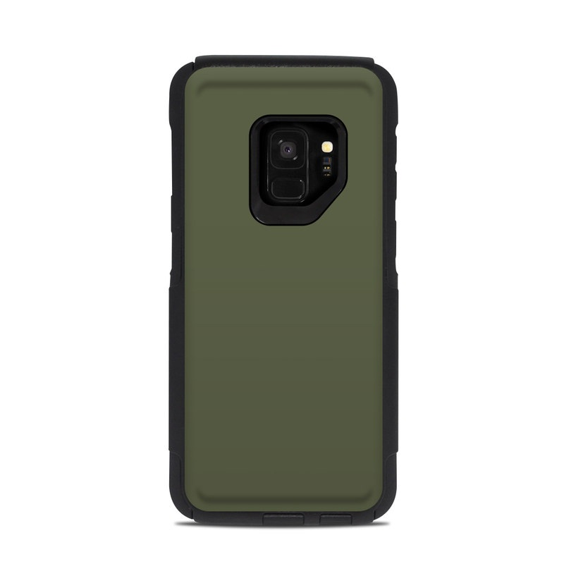 OtterBox Commuter Galaxy S9 Case Skin design of Green, Brown, Text, Yellow, Grass, Font, Pattern, Beige with green colors