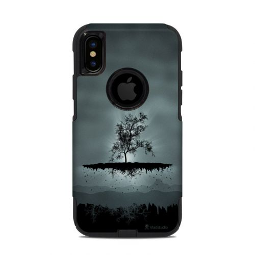 Flying Tree Black OtterBox Commuter iPhone XS Case Skin