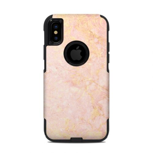 Rose Gold Marble OtterBox Commuter iPhone XS Case Skin
