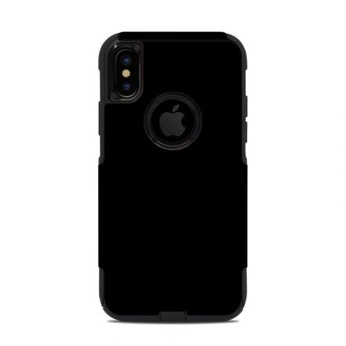 Solid State Black OtterBox Commuter iPhone XS Case Skin
