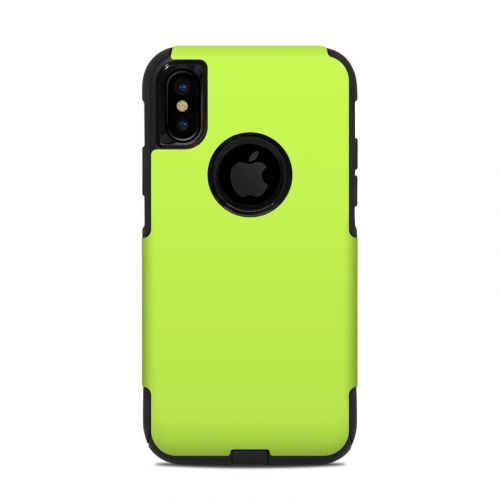 Solid State Lime OtterBox Commuter iPhone XS Case Skin