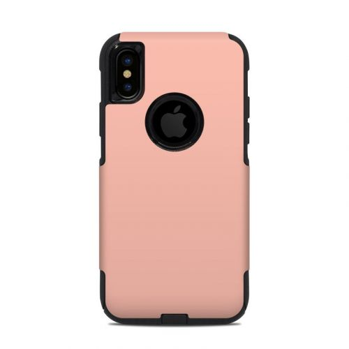 Solid State Peach OtterBox Commuter iPhone XS Case Skin