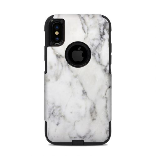 White Marble OtterBox Commuter iPhone XS Case Skin
