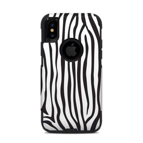 Zebra Stripes OtterBox Commuter iPhone XS Case Skin