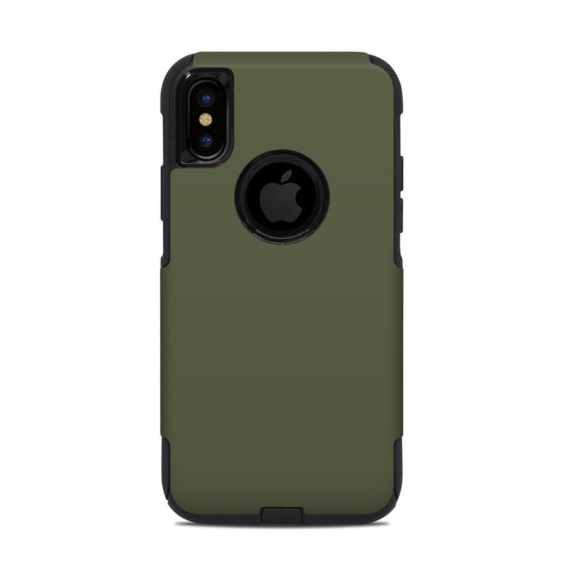 OtterBox Commuter iPhone XS Case Skin design of Green, Brown, Text, Yellow, Grass, Font, Pattern, Beige with green colors