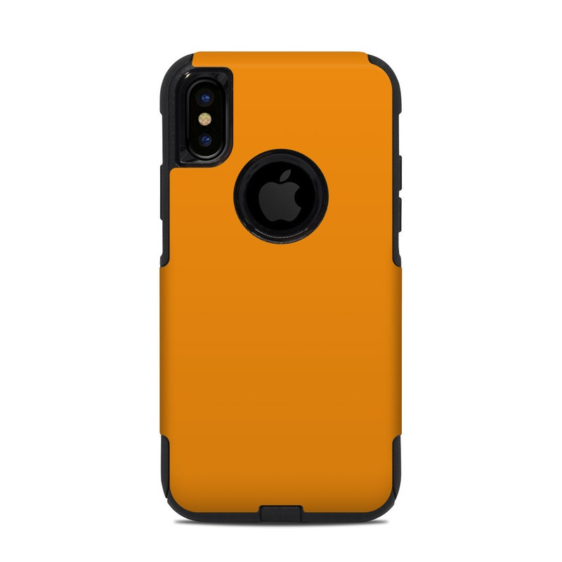 OtterBox Commuter iPhone XS Case Skin design of Orange, Yellow, Brown, Text, Amber, Font, Peach with orange colors