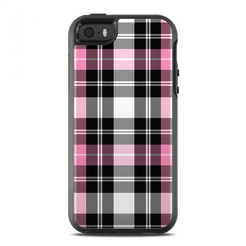 Pink Plaid OtterBox Symmetry iPhone SE Skin