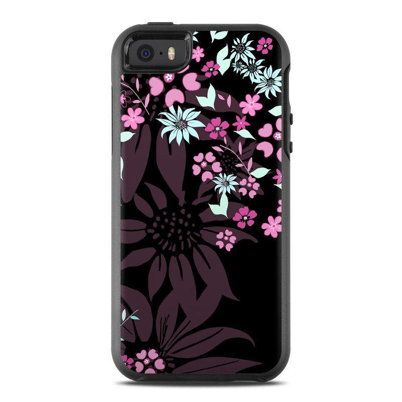 Dark Flowers OtterBox Symmetry iPhone SE Case Skin