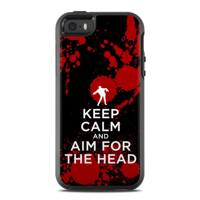 Keep Calm - Zombie OtterBox Symmetry iPhone SE Case Skin