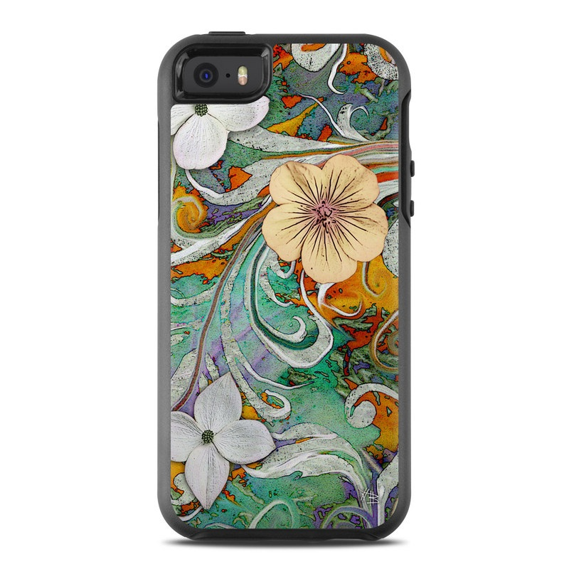 Sangria Flora OtterBox Symmetry iPhone SE Skin