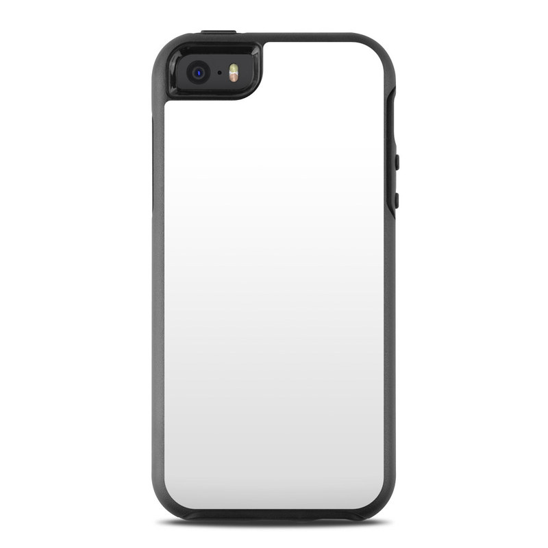 OtterBox Symmetry iPhone SE Case Skin design of White, Black, Line with white colors