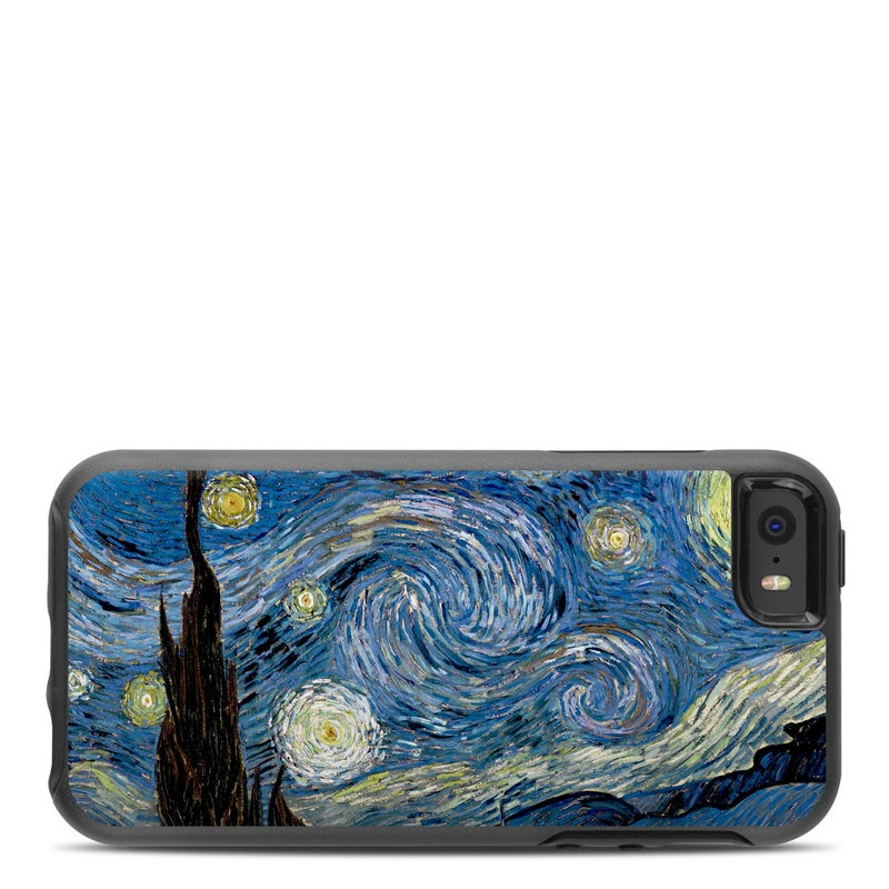 OtterBox Symmetry iPhone SE Case Skin design of Painting, Purple, Art, Tree, Illustration, Organism, Watercolor paint, Space, Modern art, Plant with gray, black, blue, green colors
