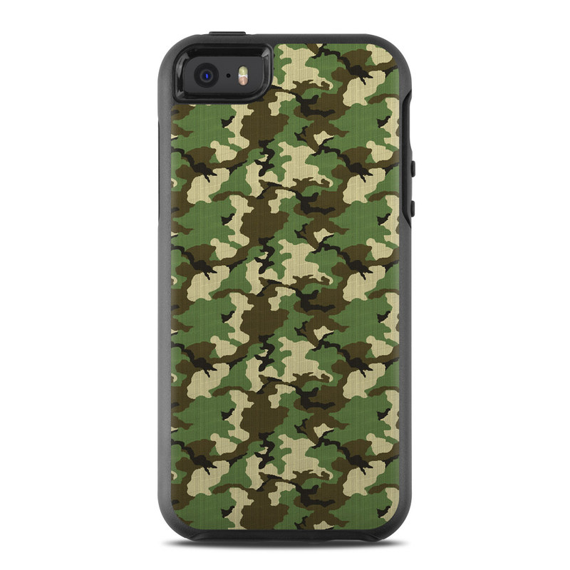 Woodland Camo OtterBox Symmetry iPhone SE Case Skin