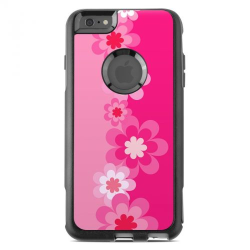 Retro Pink Flowers OtterBox Commuter iPhone 6s Plus Skin