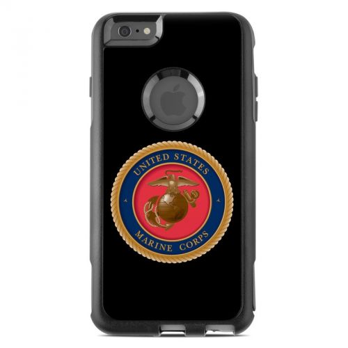 USMC Black OtterBox Commuter iPhone 6s Plus Skin