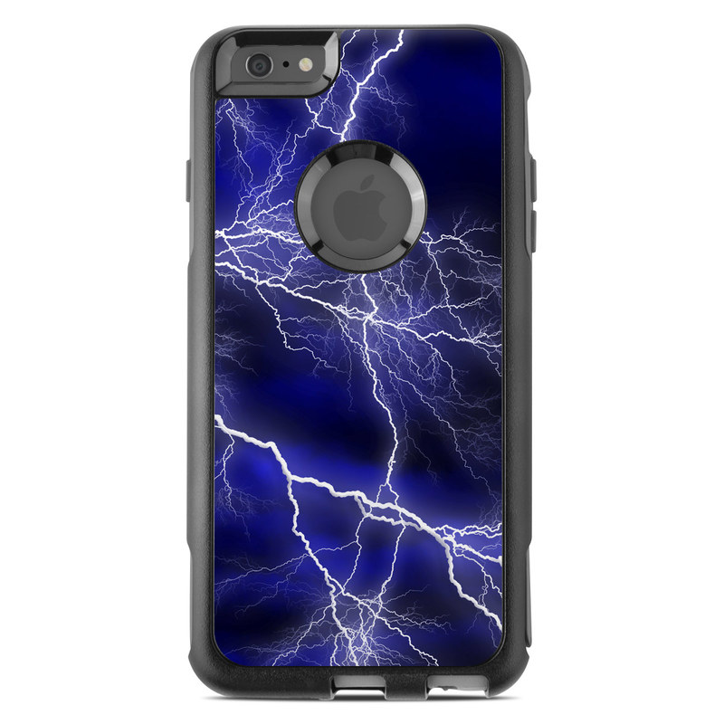 OtterBox Commuter iPhone 6s Plus Case Skin design of Thunder, Lightning, Thunderstorm, Sky, Nature, Electric blue, Atmosphere, Daytime, Blue, Atmospheric phenomenon with blue, black, white colors