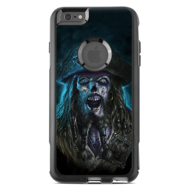 OtterBox Commuter iPhone 6s Plus Case Skin design of Darkness, Illustration, Art, Ghost, Fictional character, Beard with black, white, blue, gray colors