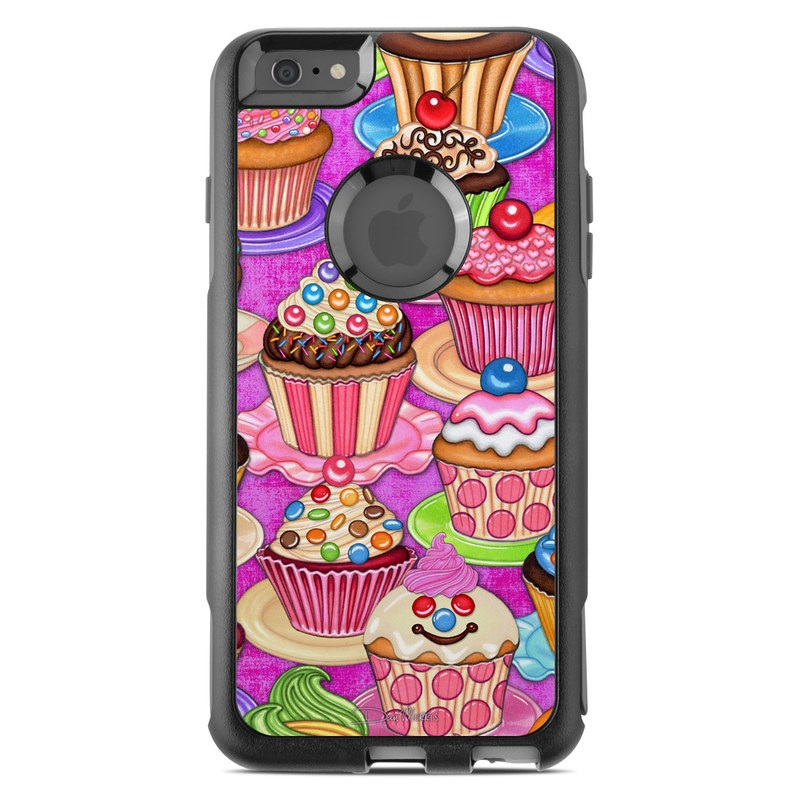 OtterBox Commuter iPhone 6s Plus Case Skin design of Cupcake, Baking cup, Icing, Baking, Cake decorating, Dessert, Cake, Cake decorating supply, Food, Sweetness with pink, green, blue, orange, yellow, brown colors