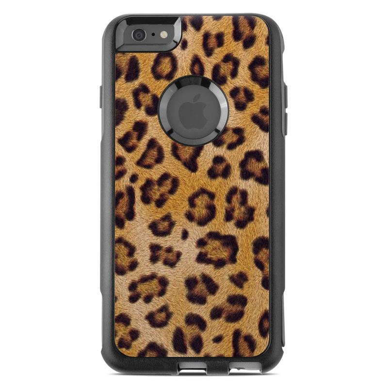 OtterBox Commuter iPhone 6s Plus Case Skin design of Pattern, Felidae, Fur, Brown, Design, Terrestrial animal, Close-up, Big cats, African leopard, Organism with orange, black colors