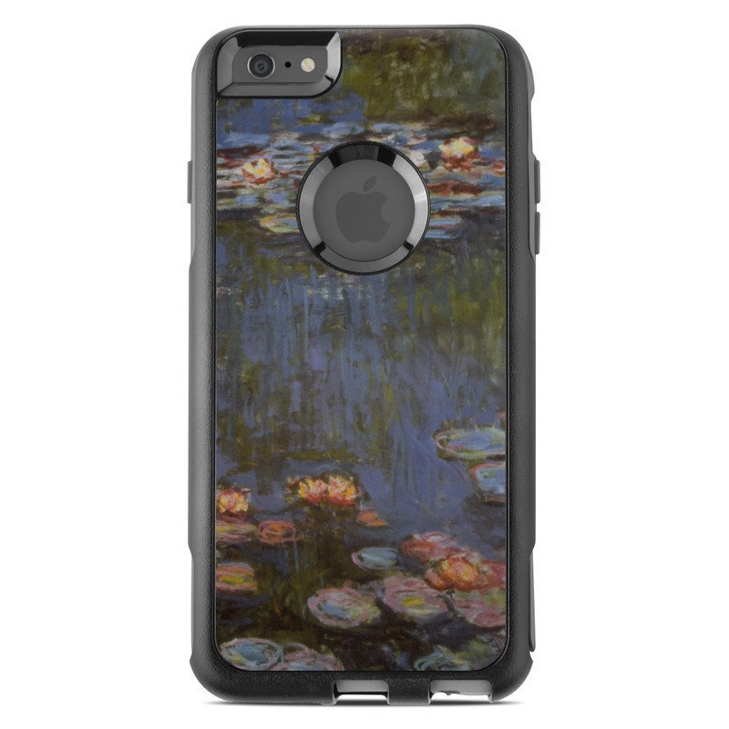 OtterBox Commuter iPhone 6s Plus Case Skin design of Pond, Water, Painting, Watercourse, water lily, Reflection, Aquatic plant, Leaf, Fish pond, Still life with black, blue, gray, red, green colors