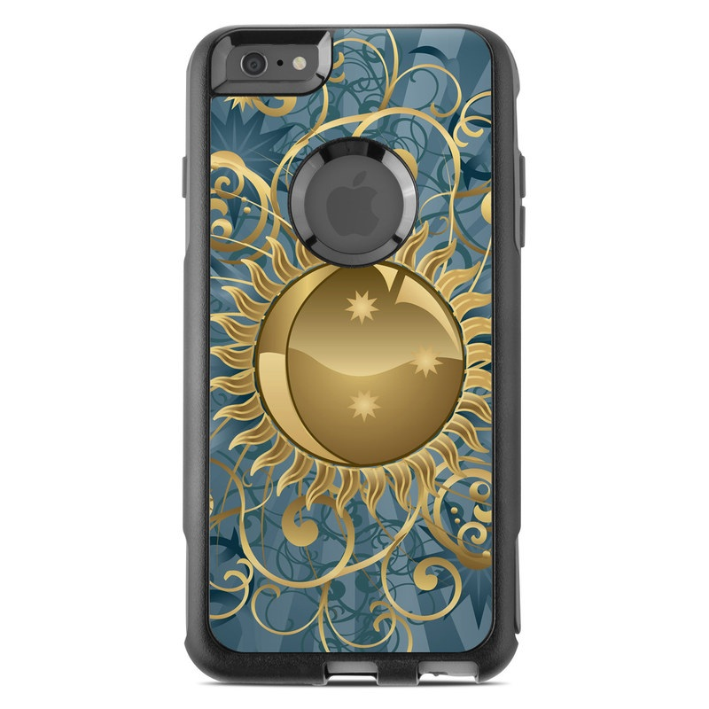 OtterBox Commuter iPhone 6s Plus Case Skin design of Pattern, Fractal art, Design, Floral design, Art, Circle, Visual arts, Ornament, Plant, Wallpaper with black, green, gray, blue, red colors